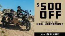 Ural Russian Motorcycles Summer Savings