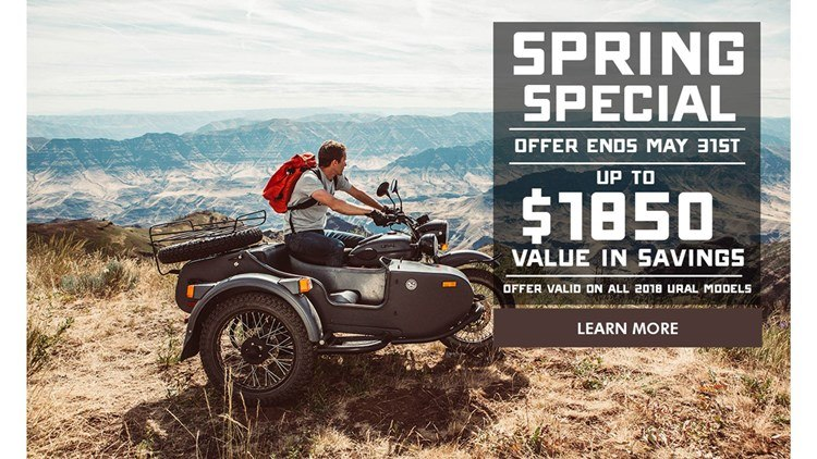 Ural Russian Motorcycles - Spring Special